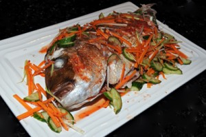 Whole Snapper Vietnamese Style