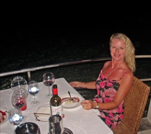 Dining at the a la carte restaurant