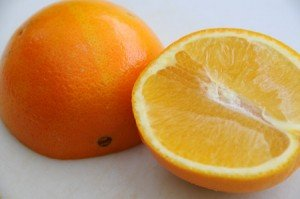 A navel orange