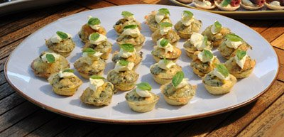 Recipe:  Smoked Salmon and Basil Mini-Frittatas