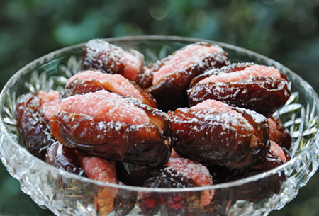 Recipe: Almond and Rosewater Filled Fresh Dates