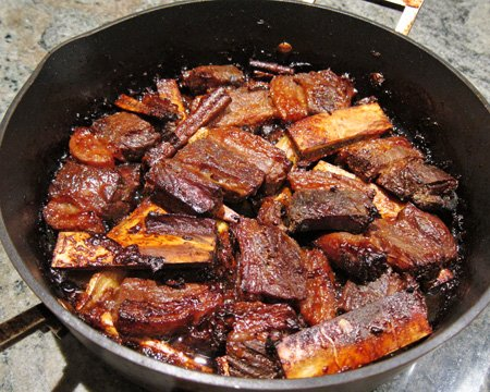 Beef Ribs Baked in Coconut