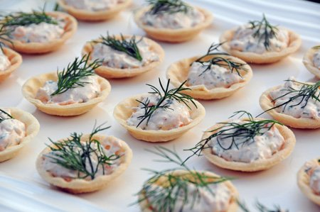 Recipe smoked salmon spread in pastry cases life 39 s a feast for Easy canape fillings