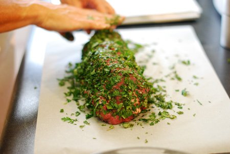 Recipe: Herb & Garlic Crusted Fillet of Beef with Aioli