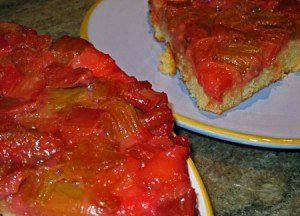 %nrecipes  Recipe: Rhubarb Upside Down Cake