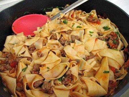 Recipe: Stracci with Italian Sausage & Tomato