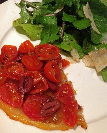 Recipe: Cherry Tomato, Olive and Onion Jam Tarte Tatin